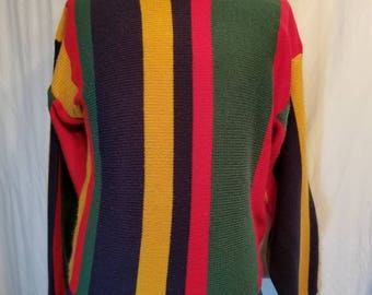 Mens colorful 90s vintage sweater, 46
