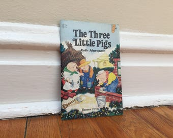 The Three Little Pigs Book Illustrated Vintage Children's Book Paperback