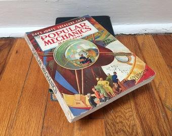 Popular Mechanics Magazine Vintage Book Distressed February 1939