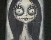 "Lori Gutierrez OOAK Art - ""Nightmare Before Christmas"" Sally Magnet!!"