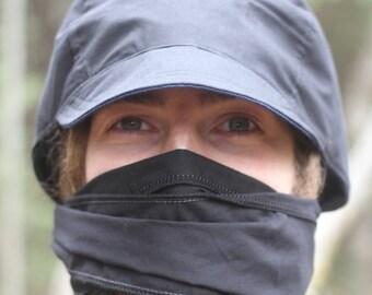 Black Cotton Dread Cap Wrap Hat