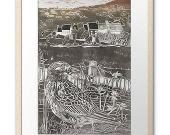 Skylark at Clearbrook, large signed and framed print