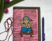 Ganesha, bullet journal 2018, bujo, A5 Planner Notebook, Handmade Paper, Art Journal, Writing Journal, bullet journaling, Handmade Journal