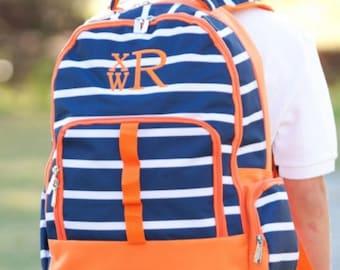 Personalized Boys Backpack Monogram