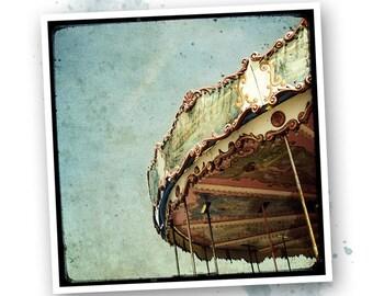 Carousel blue - photo art signed 20x20cm