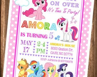My Little Pony Invitation, PRINTABLE My Little Pony Bithday Invitation, My Little Pony Birthday Party, Digital File