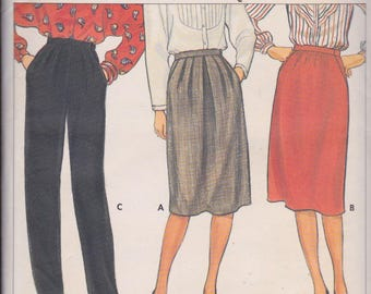 Butterick 6140 Misses' Skirt and Pants Sizes 6, 8, 10 Vintage UNCUT Pattern Rare and OOP