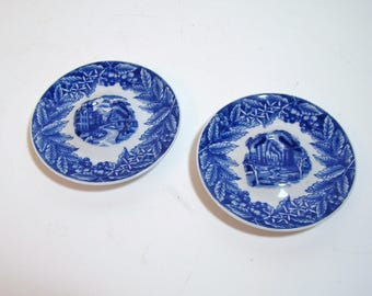 Rosenthal Itty Collection Miniature Blue And White Plates