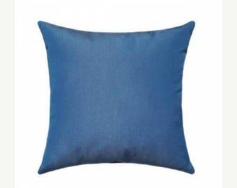 Blue Outdoor Pillow, Sunbrella Canvas Regatta Outdoor Pillow, Blue Sunbrella Throw Pillow, Blue Sunbrella Cushion Free Shipping, 5493-0000