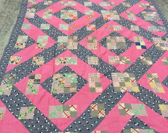 Antique Quilt Top - Hand Pieced