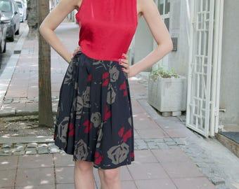 Red Retro Vintage Beauty Dress M-L
