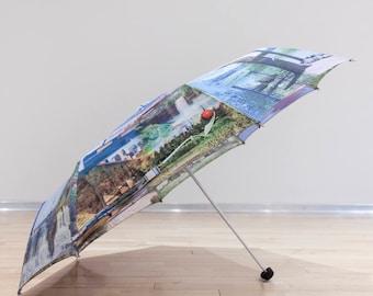 Travel Sized Art Umbrella -  Minnesota Photo Collage *IN STOCK*