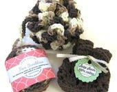 Bath Set, Cotton Crochet Spa Set, Handmade Bath, Bath Pouf, Facial Scrubbies, Soap Saver, Make Up Remover Pad/washcloth