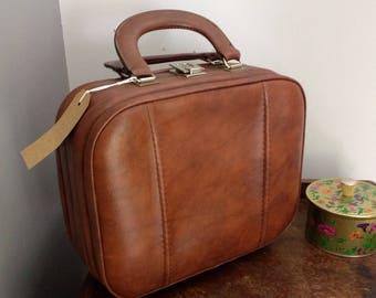 1960s Tan Vanity Bag