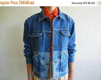40% OFF Lion Mouth Design Denim Jacket