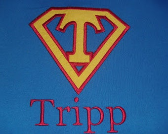 Superman Custom Applique Shirt