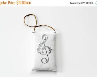 SALE Piano Teacher Gift, Hanging Lavender Sachet with Treble Clef, Music Decor