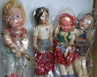 Vintage Rag Dolls, 1950's Dolls,