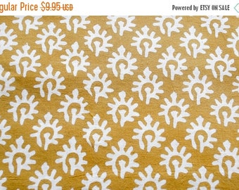 50% off 1 yard of indian Hand block printed fabric