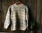 Pullover Sweater Womens Eddie Bauer 90s Crew Neck Sweater Medium Vintage From Nowvintage on Etsy