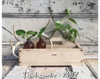 Vintage Wooden Tote - Table Centerpiece - Wood Tote - Wedding Card Holder - Tool Box - Wood Caddy - Wooden Caddy - Wooden Tote - Farmhouse
