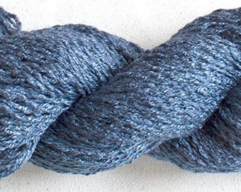 Parakeet, Hand-dyed Rayon Boucle Yarn, 225 yds -  Denim