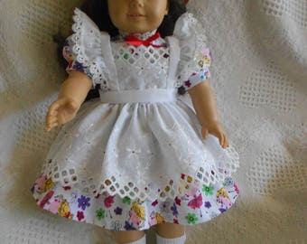 American Girl Doll Pinafore Dress for Maryellen, Molly, Kit or other 18 inch Dolls