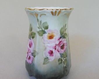 Pink Vintage Style Rose Vase