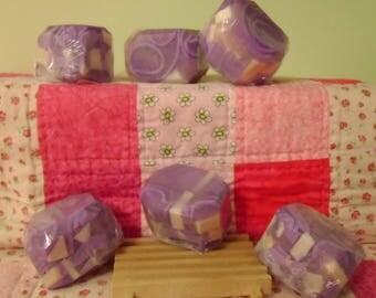 Amethyst Bubble Rock Shea Butter Soap