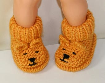 40% OFF SALE Instant Digital File pdf download Knitting pattern- Baby Teddy Bear Booties pdf download knitting pattern
