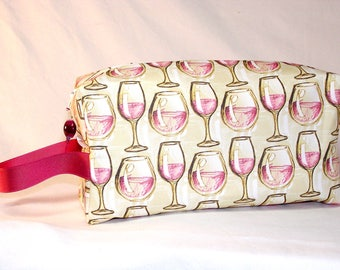 Wine Glasses Project Bag - Premium Fabric