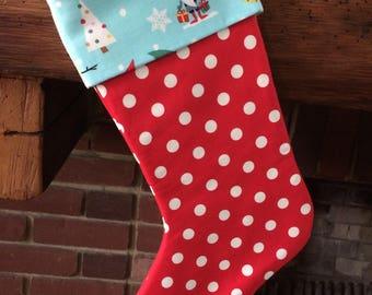 Polka dot stocking | Etsy
