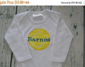 ON SALE Personalized Tennis Baby Gown or Bodysuit Layette Coming  Home Outfit baby Gift