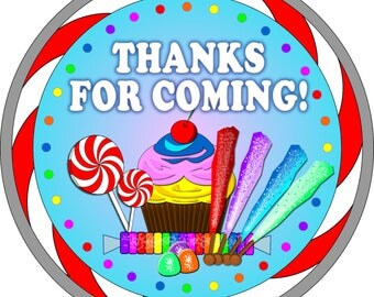 Reserved Listing For tipsizzle22 For 3 sheets of Candy Land Party Stickers