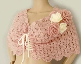 Bridal cape, Crochet shawl, Crochet cape, Lace cape, Freeform crochet, Cape stole, Shawl cape, Wedding cape, Victorian cape, Shoulder wrap