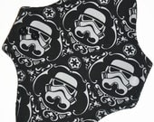 Light Core- Storm Trooper Knit Reusable Cloth Pantyliner Pad- 8.5 Inches