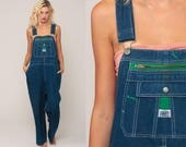Bib Overalls 80s Denim Pants Baggy Dungarees LIBERTY Grunge Long Jean Pants 1980s Boyfriend Suspender Hipster Carpenter Extra Large xl