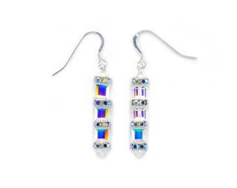 Swarovski Elements 3 Cube earrings