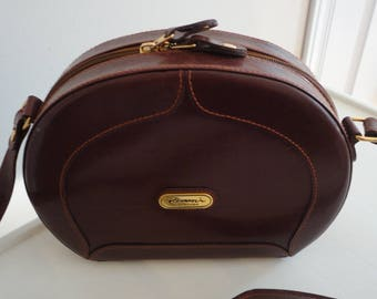 80s Brown Leather Purse Cool Shape Romani Collection