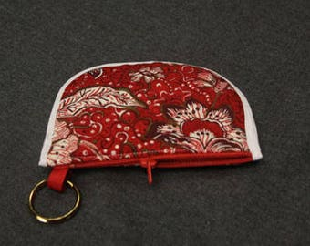 Red Quilted Coin Purse With Pockets