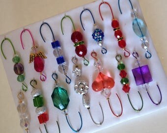 Only One Box Variety*11 - Beaded Ornament Hangers -  FREE SHIPPING