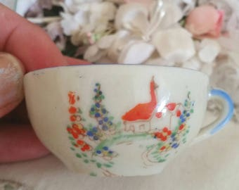 victorian dolls cup, antique childs cup, brocante home, shabby cottage, antique toys, antique china cup