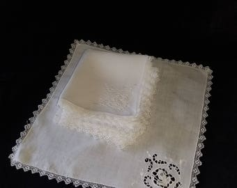 Beautiful..Handmade set of 8.napkins