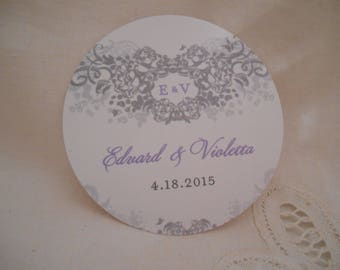 Private Listing for idolisaacarrano Elegant Tags - Vintage Victorian Wedding Theme -  3 inch Round Tags