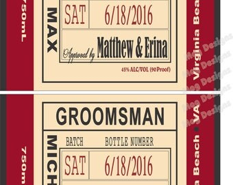 Private Listing for idoamypaigegotcher1 Will you be my Groomsman - Wedding Groomsman Liquor Labels - Will you be my Best Man