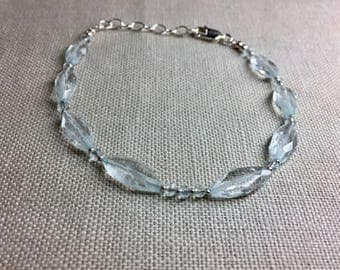 Aquamarine Bracelet in Sterling Silver