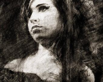 Amy Winehouse - Digital Download 7.5 x 10