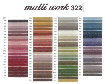 Cosmo Multi Work 322 Embroidery Thread by Lecien. 100% Cotton 2 strand embroidery floss.