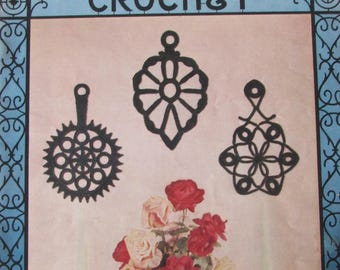 Wrought Iron Crochet, Lily Design Book 74, 1954, Crochet Designs to Look Like Wrought Iron Objects, Needlecraft, Vintage Patterns