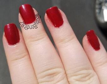 Vamp Red - Nail Polish- 7 Free - Indie Polish  - Nail Lacquer - Red